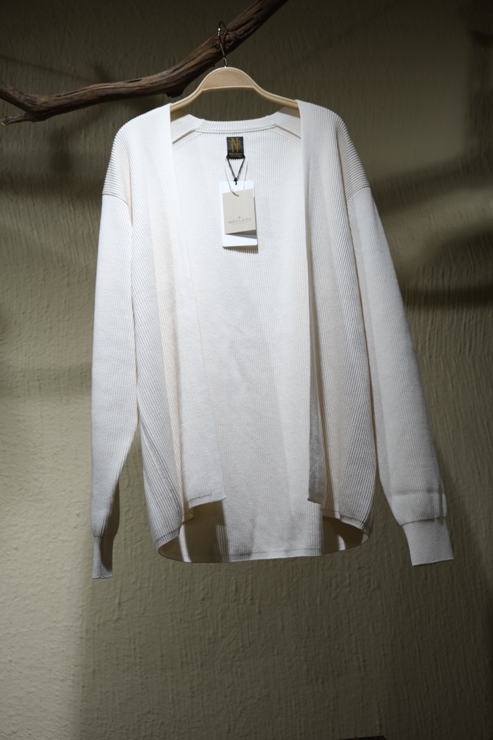 바토너 Batoner High Count Rib Cardigan - Ivory
