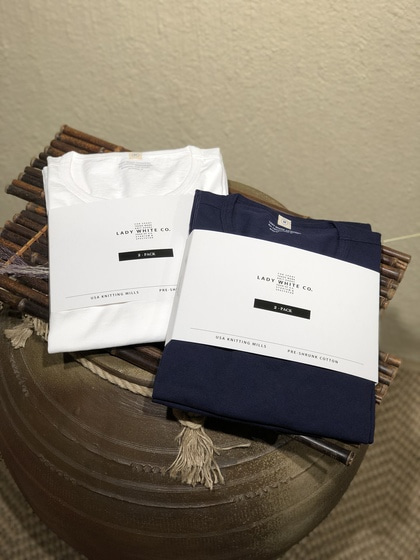레이디 화이트 Lady White Co. 2-Packs Basic T-shirts - Navy