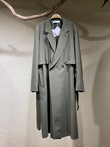 에토센스 Ethosens Splitted Trench Coat - Khaki