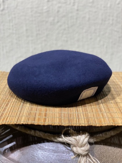 [Restock]H.W Dog Oversized Beret - Navy