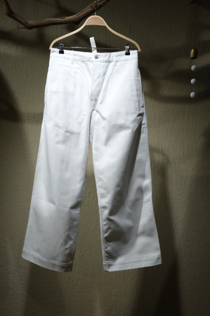 스튜디오 니콜슨 STUDIO NICHOLSON Pyad Suede Head Slack Denim Pants - Milk