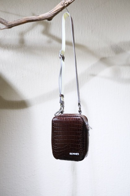 써네이 미니백 Sunnei Mini Shoulder Bag - Brown Croc