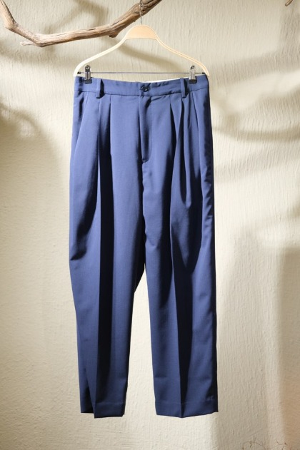 헤드 메이너 Hed Mayner 4 Pleats Signature Trousers - Navy