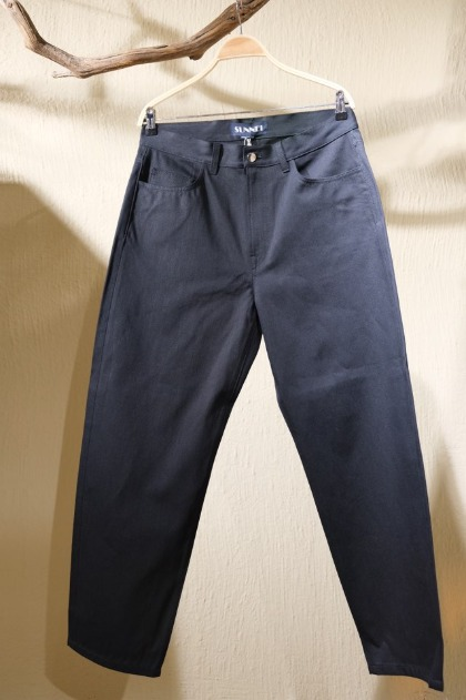 써네이 Sunnei Classic fit signature Pants - Black