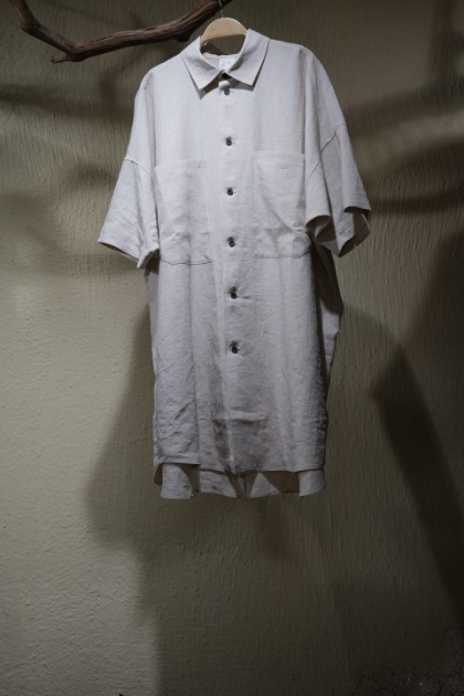 Jan Jan Van Essche 얀 얀 반 에쉐 - SHIRT#84 NATURAL MELE LI/SE SHIRTING - Greige