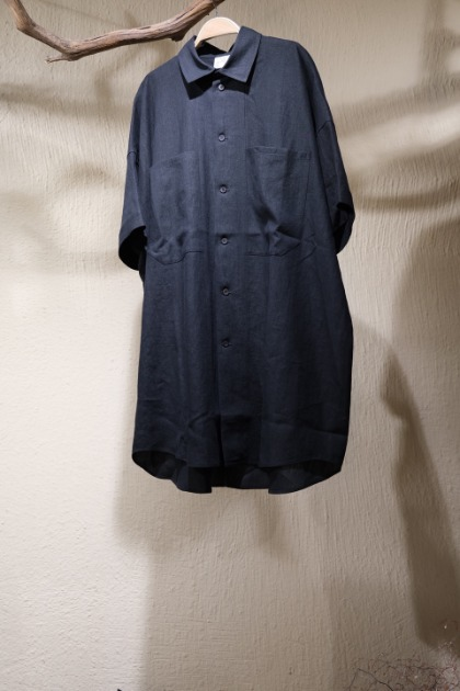 Jan Jan Van Essche 얀 얀 반 에쉐 - SHIRT#84 LINEN/PAPER SHIRTING - Black
