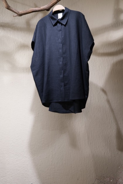 Jan Jan Van Essche 얀 얀 반 에쉐 - SHIRT#83 LINEN/PAPER SHIRTING - Black