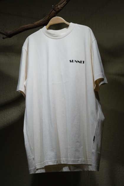 써네이 티셔츠 Sunnei Mini Logo T-shirts - Cream