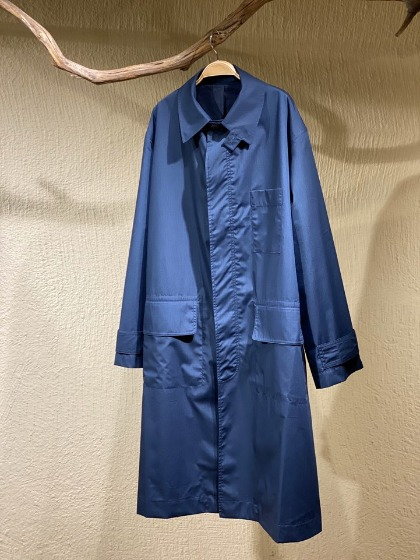 스튜디오 니콜슨 STUDIO NICHOLSON - Rubato Car Coat - Dark Navy