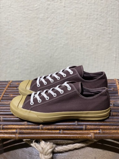 스튜디오 니콜슨 문스타 STUDIO NICHOLSON x Moonstar - Vulcanised sole Canvas shoes - Chocolate