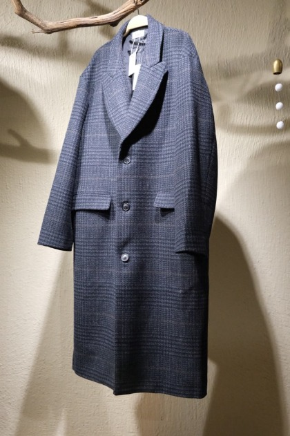 로운 Lownn - Straight Over Coat - Dark Grey Check